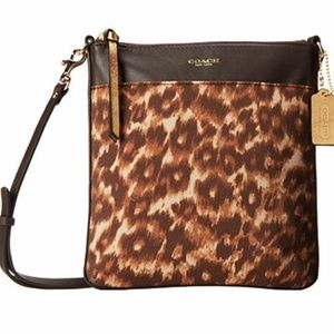 COACH Crossbody OCELOT Leopard Animal NWT Brown